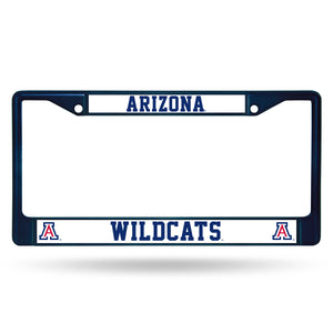 Arizona Wildcats Navy Chrome License Plate Frame