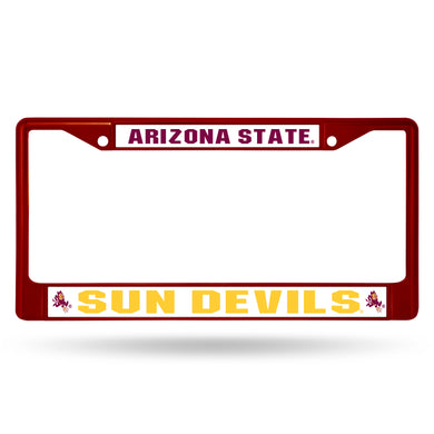 Arizona State Dun Devils Marooon Chrome License Plate Frame