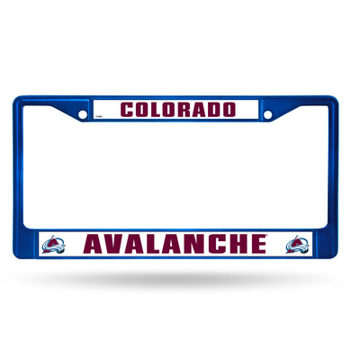 Colorado Avalanche Blue Color Chrome  License Plate Frame