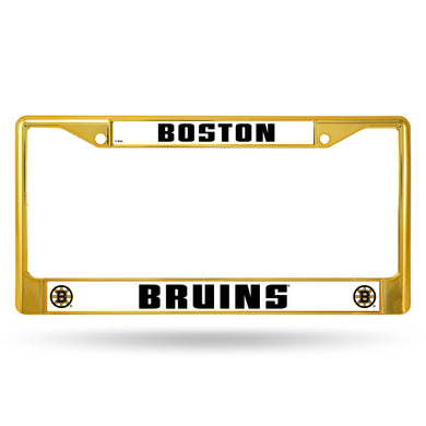 Boston Bruins Gold Color  Chrome License Plate Frame
