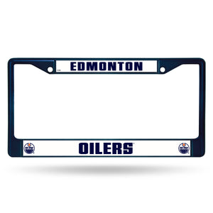 Edmonton Oilers Blue Color Chrome License Plate Frame