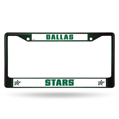 Dallas Stars Green Color Chrome License Plate Frame