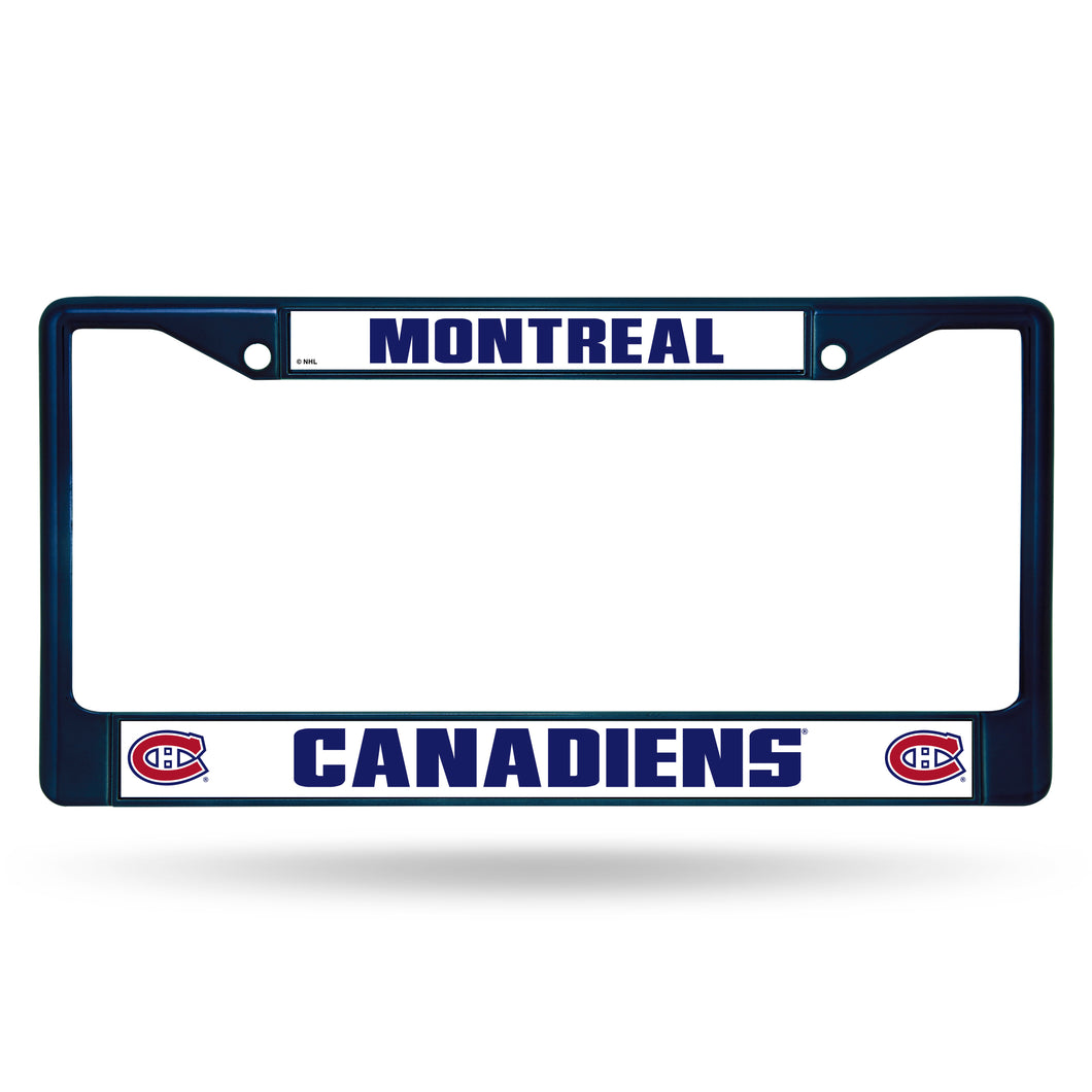 Montreal Canadiens Blue Chrome License Plate Frame