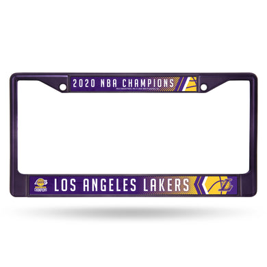 Los Angeles Lakers 2020 NBA Champs Purple Color Chrome License Plate Frame