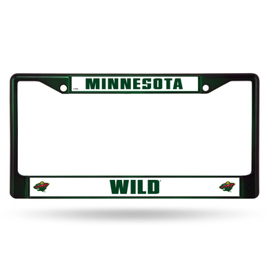 Minnesota Wild Dark Green Color Chrome License Plate Frame