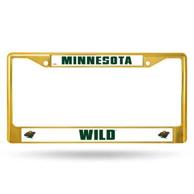 Minnesota Wild Gold Color Chrome License Plate Frame