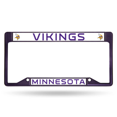 Minnesota Vikings Purple Inverted Color Chrome License Plate Frame