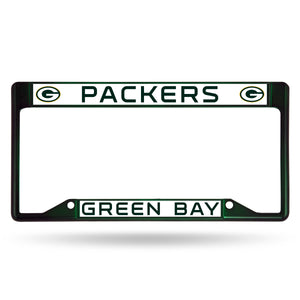 Green Bay Packers Dark Green Inverted Color Chrome License Plate Frame