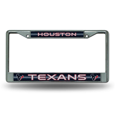 Houston Texans Bling Chrome License Plate Frame