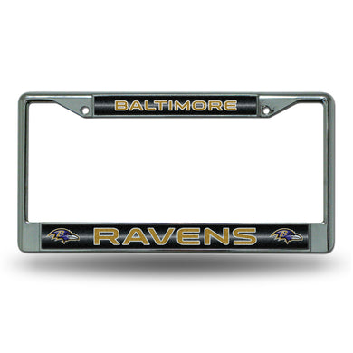 Baltimore Ravens Bling Chrome License Plate Frame