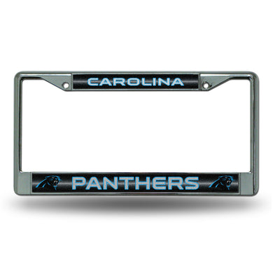 Carolina Panthers Bling Chrome License Plate Frame