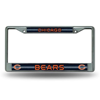 Chicago Bears Bling Chrome License Plate Frame