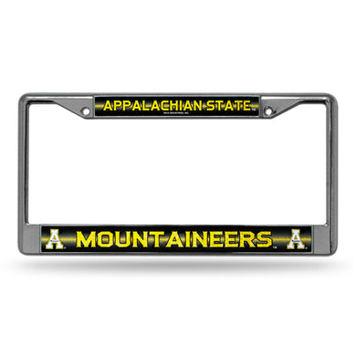 Appalachian State Mountaineers  Bling Chrome License Plate Frame