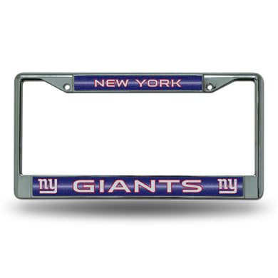 New York Giants Bling Chrome License Plate Frame
