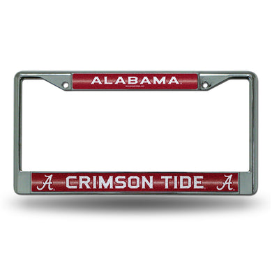 NCAA fan gear Alabama Crimson Tide bling license plate frame from Sports Fanz