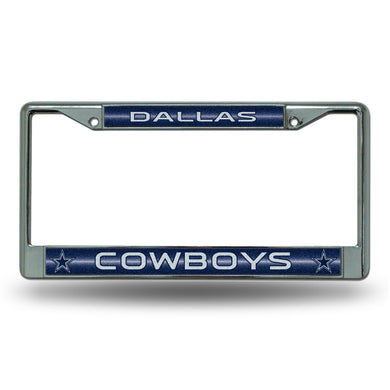 Dallas Cowboys Bling Chrome License Plate Frame