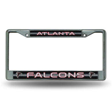 Atlanta Falcons Bling Chrome License Plate Frame