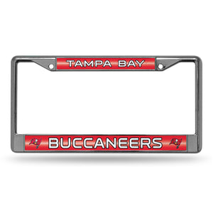 Tampa Bay Buccaneers Bling Chrome License Plate Frame