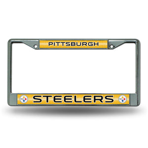 Pittsburgh Steelers Bling Chrome License Plate Frame