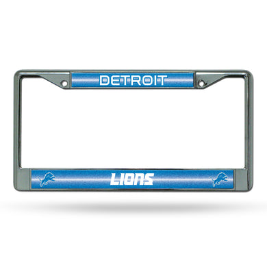Detroit Lions Bling Chrome License Plate Frame