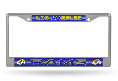 Los Angeles Rams Bling Chrome License Plate Frame