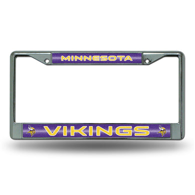 Minnesota Vikings Bling Chrome License Plate Frame