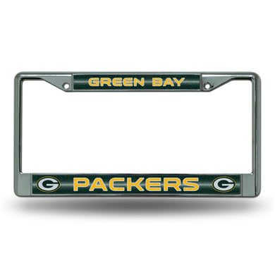 Green Bay Packers Bling Chrome License Plate Frame