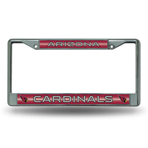 Arizona Cardinals Bling Chrome License Plate Frame