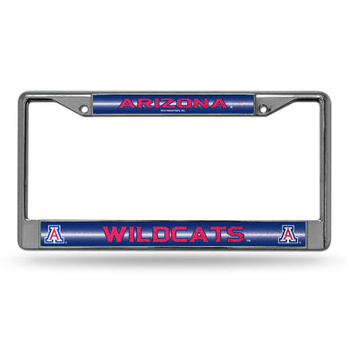 Arizona Wildcats Bling Chrome License Plate Frame