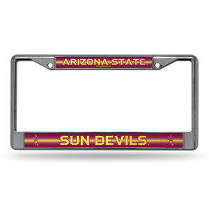 Arizona State Dun Devils Bling Chrome License Plate Frame