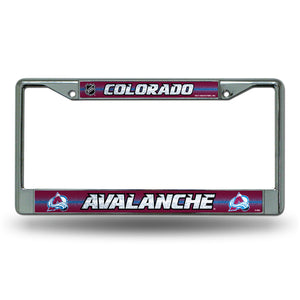 Colorado Avalanche Bling License Plate Frame
