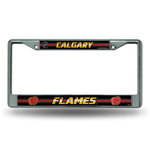 Calgary Flames Bling License Plate Frame