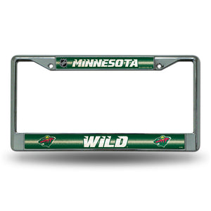 Minnesota Wild Bling License Plate Frame