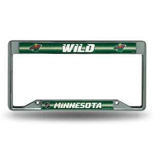 Minnesota Wild Inverted Bling License Plate Frame