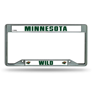 Minnesota Wild Inverted Chrome License Plate Frame
