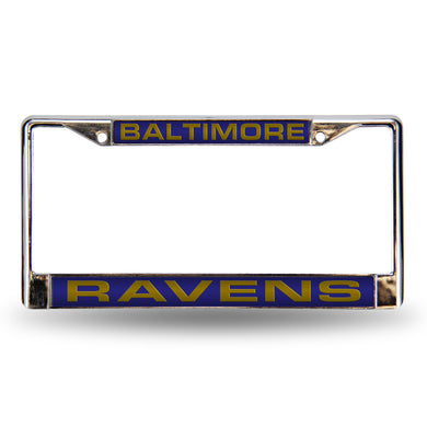 Baltimore Ravens Purple Laser Chrome License Plate Frame