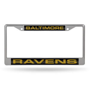 Baltimore Ravens Laser Chrome License Plate Frame