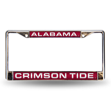 Alabama Crimson Tide Red Laser License Plate Frame