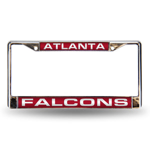 Atlanta Falcons Red Laser Chrome License Plate Frame