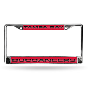 Tampa Bay Buccaneers Laser Chrome License Plate Frame