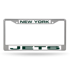 New York Jets Laser Chrome License Plate Frame