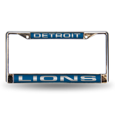 Detroit Lions Blue Laser Chrome License Plate Frame