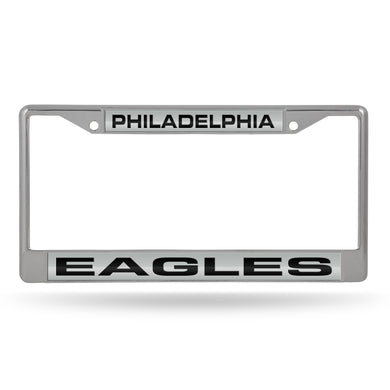 Philadelphia Eagles Laser Chrome License Plate Frame
