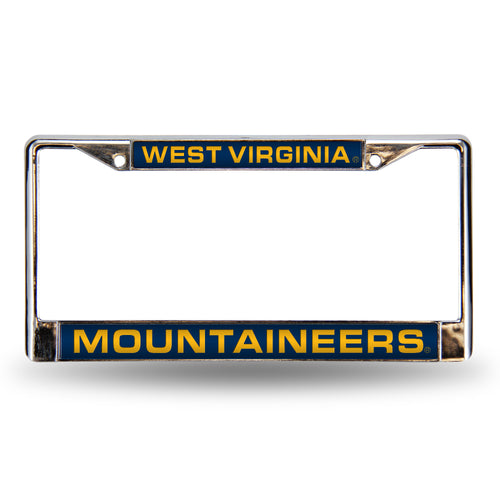 West Virginia Mountaineers Blue Laser License Plate Frame
