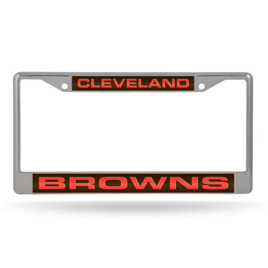 Cleveland Browns Laser Chrome License Plate Frame