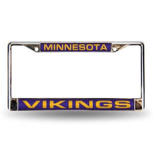 Minnesota Vikings Purple Laser Chrome License Plate Frame