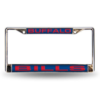 Buffalo Bills Blue Laser Chrome License Plate Frame