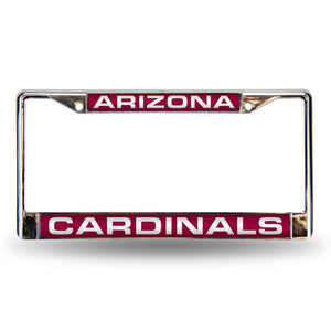 Arizona Cardianls Red Laser Chrome License Plate Frame