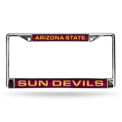 Arizona State Red Laser Chrome License Plate Frame