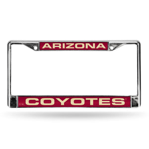 Arizona Coyotes Laser Chrome License Plate Frame